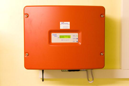 Installation des Wechselrichters: 1 SMA Sunny Boy 3800